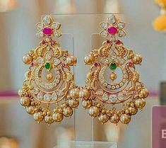 Jewelry Design Earrings, Gold Earrings Designs, Gold Jewellery Design, Gold Jewelry, Antique Jewellery Designs, Gold Ring Designs, Gold Bridal Earrings, Gold Necklace, Chocker