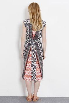 Florals & Prints | Other Aztec Midi Dress | Warehouse