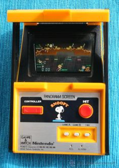 I loved playing my Snoopy Nintendo Game & Watch, with its super high-tech panorama screen! It's still at home somewhere.