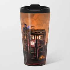 10th Doctor who trapped in the zombie land METAL TRAVEL MUG #metaltravelmug #dontblink #statue #angel #spring #winter #fall #autumn #davidtennant #10thdoctor #fog #mist #doctorwho #tardis #starrynight #vangogh #halloween #summer #aztec #mayansimbols #dreamcatcher #zombie