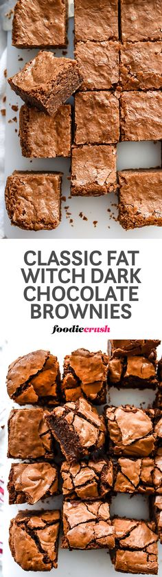 "Classic dark chocolate brownies from Chelsea Market's famed Fat Witch Bakery is a recipe every chocolate brownie lover should have in their ""best of"" archives 
