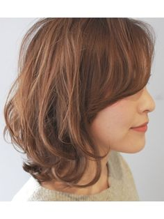 ルーズミディアム Medium Length Wavy Hair, Short Wavy Hair, Medium Hair Styles, Short Hair Styles, Evening Hairstyles, Hair Arrange, Lob Hairstyle, Asian Hair, Belleza Natural