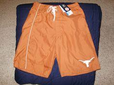 Texas Longhorns Burnt Orange Swimming Swim Trunks Shorts Men's Size XL #GIII #Texas