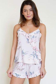 Yumi Kim Matchmaker Floral Pajama Set - Pajama Sets - Ideas of Pajama Sets - Yumi Kim Matchmaker Floral Pajama Set Satin Pyjama Set, Satin Pajamas, Pajama Set, Pyjamas, Pajama Outfits, Girl Outfits, Pajamas For Teens, Summer Pajamas, Pijamas Women