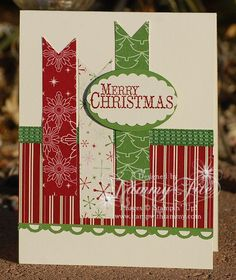 Stampin' Up Christmas with DSP. Saturday Sketch Challenge #263