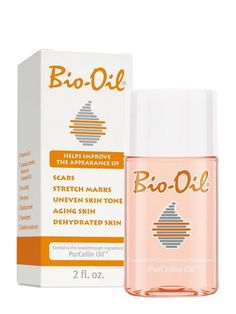 """This body oil goes above and beyond your usual moisturizer. """"It's great for treating stretch marks, . - Courtesy of brand Bio Oil Pregnancy, Bio Oil Uses, Bio Oil Scars, Acne Scars, Bio Oil Stretch Marks, Combination Skin Care, Acne Oil, Wrinkled Skin, Moisturizer With Spf"""