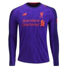 df091ce21 18-19 Liverpool Long Sleeve Away Soccer Jersey Shirt New Balance