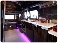 Badass airstream. Loving the purple under lights!