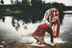 Bridal sari! | Image courtesy of Nimboo Photography | Discover more south asian wedding inspiration www.shaadibelles.com #indian #southasian #wedding