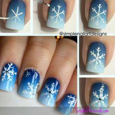 Snowflake Nail Art DIY
