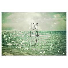 Love Laugh Live Wall Art - Natural Beauties on Joss & Main