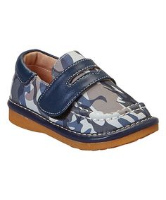 Look at this Hide & Squeak Navy Camo Squeaker Loafer on #zulily today!