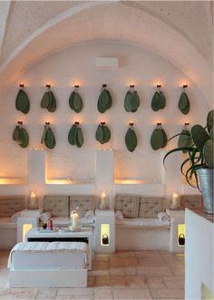 〚 Hotel in old farm building in Italy 〛 ◾ Photos ◾Ideas◾ Design Mexican Restaurant Design, Deco Restaurant, Cactus Restaurant, Design Hotel, Lobby Design, Design Design, House Design, Commercial Design, Commercial Interiors