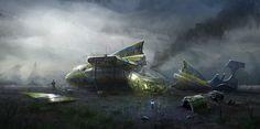 Stranded Picture  (2d, sci-fi, concept art)
