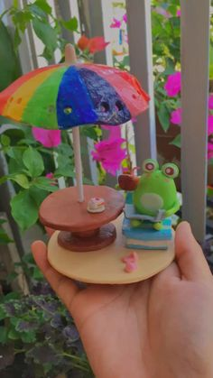 Cute Polymer Clay, Cute Clay, Polymer Clay Crafts, Diy Clay, Fun Diy Crafts, Arts And Crafts, Biscuit, Clay Art Projects, Frog Art