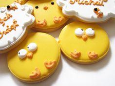easter chicken peeps cookies