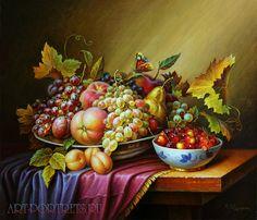 Oil on canvas still life of fruit http://www.art-portrets.ru/oil_on_canvas_still_life.html