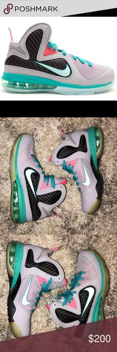 f8981d07cbf Nike LeBron 9 South Beach GS size 5 (womens 6.5 7) Preowned Nike