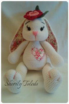 This is a DOWNLOADABLE PATTERN only. This is NOT for the actual amigurumi doll.  Meet BABY BUNNY BLOSSOM. She is simply precious and simple to make.  Finished size: 16 1/2 inches  Skill level: Easy to Medium (single crochet, increase, decrease, double crochet, half double crochet)  If you have any problems following the pattern, please feel free to contact me.  *You may sell your finished item & post pictures as long as you give credit to Pattern Designer/Author: Sherily Toledo (Toledos…