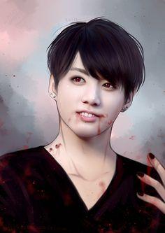 Jungkook BTS vampire fanart