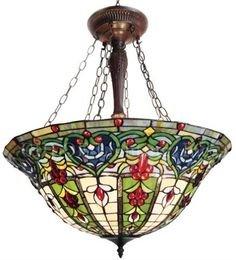 This tiffany style pendant light is an awesome way to light up your foyer, or hang in your dining room.