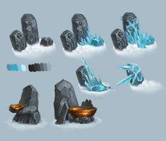 Frozen totems by Gimaldinov.deviantart.com on @deviantART
