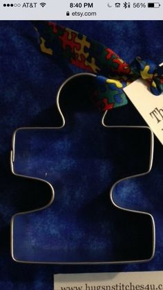 Puzzle piece cookie cutters from Etsy