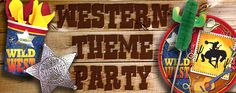 Round up all the Western Party Supplies or Cowboy theme party supplies you will at Retroplanet. Wild West hats, badges and party favors is what you need to complete your Western theme party. Western Party Supplies, Cowboy Theme Party, Western Parties, Pony Party, Western Theme, Party Themes, Party Ideas, Dance Studio, Wild West