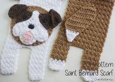 Crochet Saint Bernard Scarf Pattern by Crochetions $4.99
