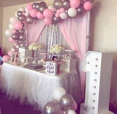 Balloon Garland, Balloon Decorations, 1st Birthday Balloons, Candy Party, Columns, Garlands, Baby Showers, Christening, Party Planning