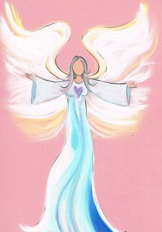 Intuitive angel drawing. Want your own? www.angelsco.nl