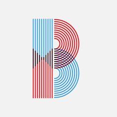 """B @36daysoftype #36daysoftype #36days_b #madebyand #typography #huddersfield #yorkshire #lines"""