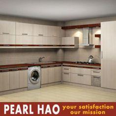 Modular MDF Melamine Design Wood Kitchen Cabinet