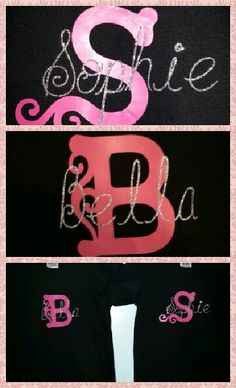 Personalized t-shirts made with a Cricut