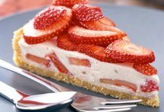 Recette : Tarte à la crème de yogourt et fraises.