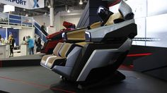 See the ridiculous futuristic massage chair was inspired by a sports car Special Massage, Bucket Chairs, Chairs For Rent, Las Vegas Homes, Luxury Chairs, Wellness Company, Futuristic Furniture, Massage Chair, Chair Design
