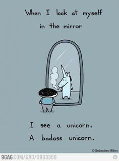 That's right.  NO ONE messes with a unicorn.