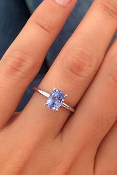 1.37 CT Blanc Créé Bleu Saphir Diamant 925 Sterling Silver Ring