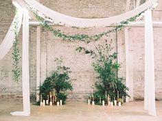 Photography: Diana McGregor - dianamcgregor.com Venue: HNYPT LA - www.hnyptunions.com/   Read More on SMP: http://www.stylemepretty.com/2015/08/13/black-tie-botanical-wedding-inspiration/