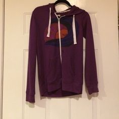 Roxy zip up jacket Has a minor stain on the front, I haven't tried to get it out. Open for traded Roxy Jackets & Coats