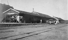 Estação Ferroviária de Monte Alto - Cia Melhoramentos de Monte Alto - Anos 1940