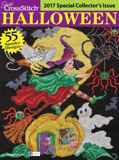 Just Cross Stitch Magazine Halloween Coming soon! The 2017 Just Cross Stitch Halloween issue will be here at the beginning of July! Just Cross Stitch, Cross Stitch Books, Counted Cross Stitch Patterns, Cross Stitch Designs, Magazine Cross, Needlework Shops, Cross Stitch Magazines, Cross Stitch Christmas Ornaments, Halloween Cross Stitches