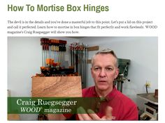 Box Hinges, Wood Magazine, Learning, Studying, Teaching, Onderwijs