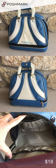 Brunswick Bowling Bag Tote, Satchel, Handbag, Blue This Wii Tote would make a fun, retro looking handbag/purse! Pockets inside and a zippered lower compartment. All zippers work. Have fun with this! Bundle with my other items for a discount and to save on shipping. I ship quick! Bags Satchels