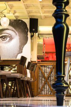 """Cafe / bar """"paparouna"""" Designed by IOANNIS Koukouras Cafe Bar, Lighting, Design, Home Decor, Decoration Home, Room Decor, Lights, Home Interior Design"""