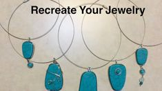 Recreate Your Jewelry #4 - YouTube Diy Jewelry Videos, Work Gifts, Earring Set, Originals, Turquoise Necklace, Pendant Necklace, Youtube, Art, Art Background