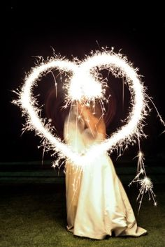 Sparkler heart....clever photographer.