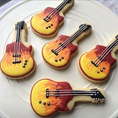i heart cakes Order our guitar decorated sugar cookies for the rock star in your life.
