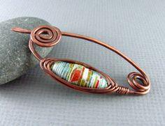Mantón perno alambre de cobre joyería envuelta perno cobre papel grano peroné…