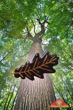 Feuille de Chêne, pendentif automne, fait main, en vente sur Etsy : Satya Creation.
